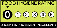 Camara's Fish Bar Food hygiene rating is '0': Urgent improvement necessary
