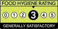 Food hygiene rating is '3': Generally satisfactory