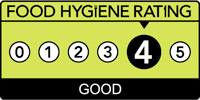 Food hygiene rating is '4': Good