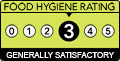 Food hygiene rating is '3': Generally satisfactory